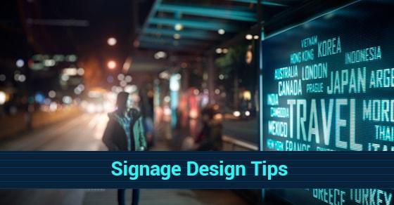 Signage Design Tips