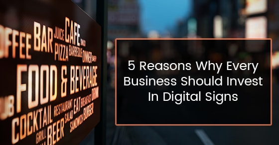 Can Digital Signage Improve Sales New Style Signs