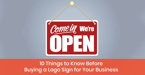 Buying a logo sign for business