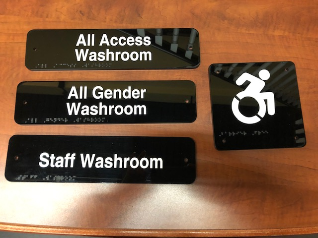 Braille Office Accessibility Signs - New Style Signs
