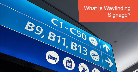 What is wayfinding signage?