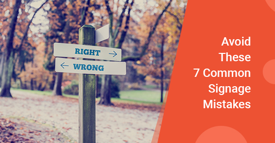 Common Sign Mistakes to Avoid